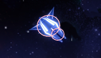 An enemy with two collision circles